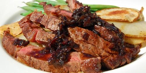 Fresh Harvest Ribeye Steaks with Balsamic Fig Glaze